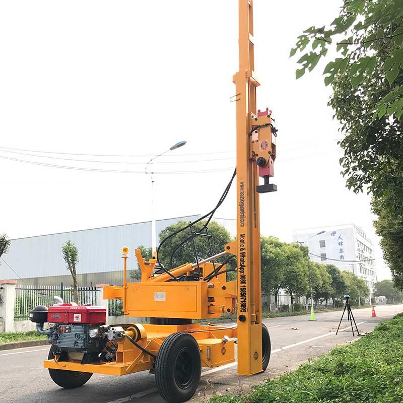 Highway Guardrail Post Driver - Road Guardrail Supplier