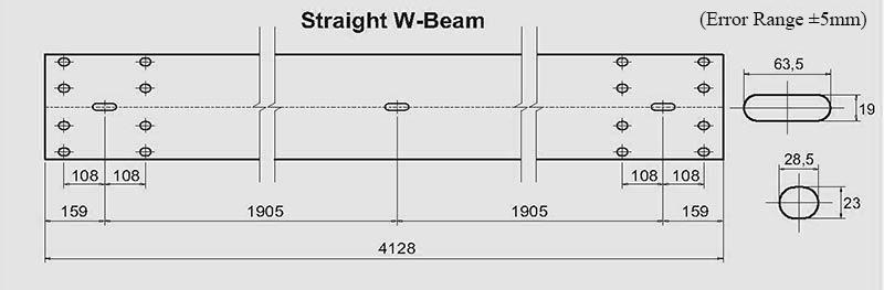 w beam galvanized guardrail drawing