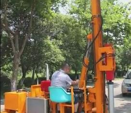 YCR Solar Pile Driver Working Video