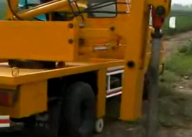 Truck mounted Guardrail Post Pile Driver Video
