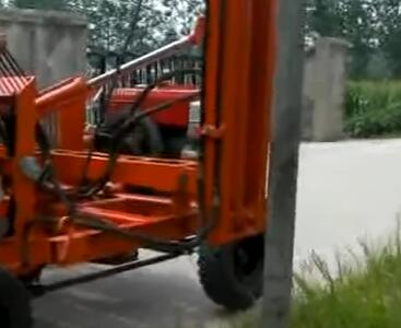 YW Series Guardrail Pile Driver Video