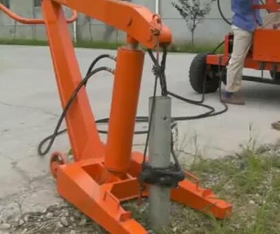 YZ Series Guardrail Pile Driver Video