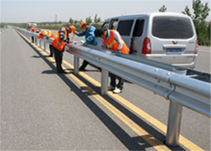 The Highway Guardrail Total Installation Flow