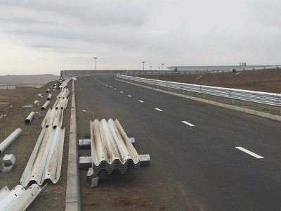 Guardrail Beam and Post Driver for Airport Highway Project